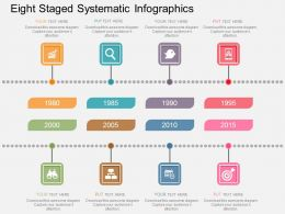 Eight Staged Systematic Infographics Flat Powerpoint Design