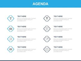 Eight Staged Tags And Icons For Business Agenda Powerpoint Slide