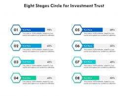 Eight Stages Circle For Investment Trust Infographic Template