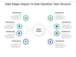 Eight Stages Diagram For Data Operations Team Structure Infographic Template