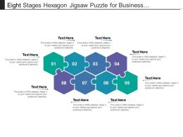 Eight Stages Hexagon Jigsaw Puzzle For Business Presentation