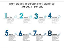 Eight Stages Of Salesforce Strategy In Banking Infographic Template