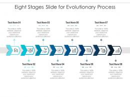 Eight Stages Slide For Evolutionary Process Infographic Template
