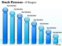 Eight Stages Stack Diagram Business Bar Graph