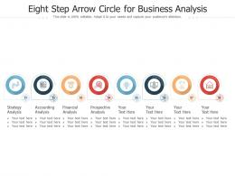 Eight Step Arrow Circle For Business Analysis