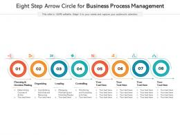 Eight Step Arrow Circle For Business Process Management