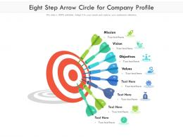 Eight Step Arrow Circle For Company Profile