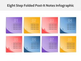 Eight Step Folded Post It Notes Infographic