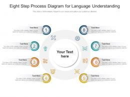 Eight Step Process Diagram For Language Understanding Infographic Template