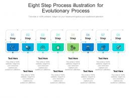 Eight Step Process Illustration For Evolutionary Process Infographic Template