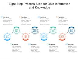 Eight Step Process Slide For Data Information And Knowledge Infographic Template