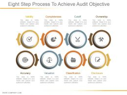 Eight Step Process To Achieve Audit Objective Powerpoint Shapes