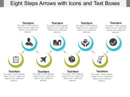 Eight Steps Arrows With Icons And Text Boxes