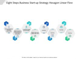 Eight Steps Business Start Up Strategy Hexagon Linear Flow