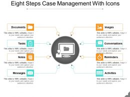 Eight Steps Case Management With Icons