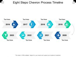 Eight Steps Chevron Process Timeline
