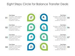 Eight Steps Circle For Balance Transfer Deals Infographic Template