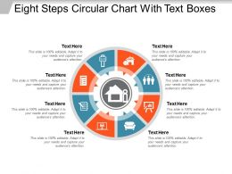 Eight Steps Circular Chart With Text Boxes