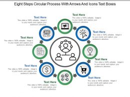 Eight Steps Circular Process With Arrows And Icons Text Boxes