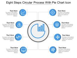 Eight Steps Circular Process With Pie Chart Icon