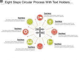 Eight Steps Circular Process With Text Holders And Icons