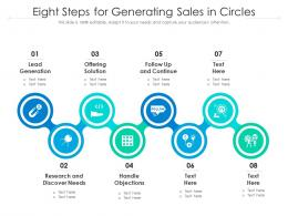 Eight Steps For Generating Sales In Circles