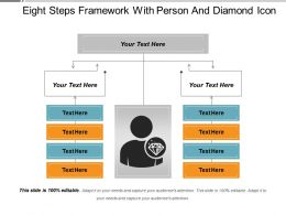 Eight Steps Framework With Person And Diamond Icon