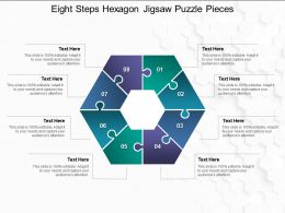 Eight Steps Hexagon Jigsaw Puzzle Pieces