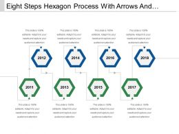 Eight Steps Hexagon Process With Arrows And Text Boxes