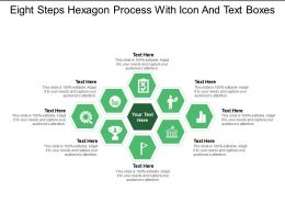 Eight Steps Hexagon Process With Icon And Text Boxes