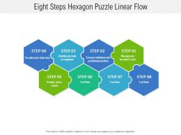 Eight Steps Hexagon Puzzle Linear Flow