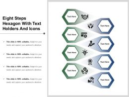 Eight Steps Hexagon With Text Holders And Icons