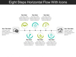 Eight Steps Horizontal Flow With Icons