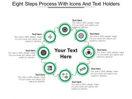 Eight Steps Process With Icons And Text Holders