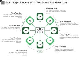 Eight Steps Process With Text Boxes And Gear Icon