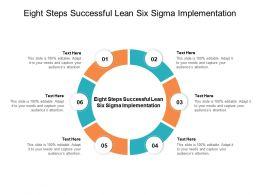 Eight Steps Successful Lean Six Sigma Implementation Ppt Powerpoint Icons Cpb