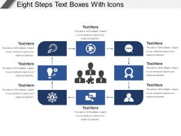 Eight Steps Text Boxes With Icons