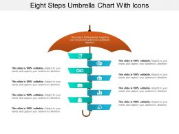 Eight Steps Umbrella Chart With Icons