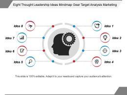eight_thought_leadership_ideas_mindmap_gear_target_analysis_marketing_Slide01
