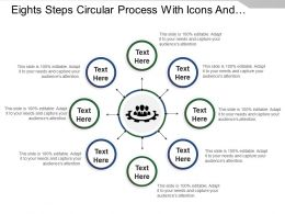 Eights Steps Circular Process With Icons And Text Holders