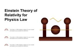 Einstein Theory Of Relativity For Physics Law