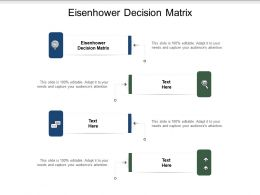 Eisenhower Decision Matrix Ppt Powerpoint Presentation Ideas Example Cpb