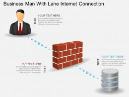 ej Business Man With Lane Internet Connection Powerpoint Template