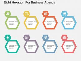 ej Eight Hexagon For Business Agenda Flat Powerpoint Design