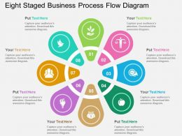 ek Eight Staged Business Process Flow Diagram Flat Powerpoint Design
