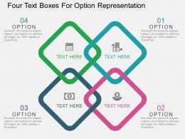 Ek Four Text Boxes For Option Representation Flat Powerpoint Design