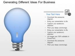 ek Generating Different Ideas For Business Powerpoint Template
