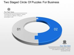Ek Two Staged Circle Of Puzzles For Business Powerpoint Template Slide