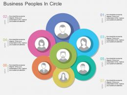 El Business Peoples In Circle Flat Powerpoint Design