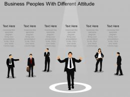 el Business Peoples With Different Attitude Powerpoint Template